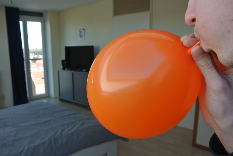 Inflating balloon with air download free stereo sound effect